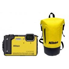 Nikon Coolpix W300 Yellow Holiday Kit