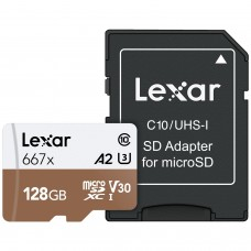 Lexar High-Performance 128GB 667x microSDXC UHS-IC10 A1 V30 U3