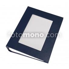 13x18 100'lük Kapak Pencereli Fotoğraf Albümü * Lacivert Ciltli