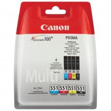 Canon CLI-551 CMYK Mürekkep Kartuş Multi Paket