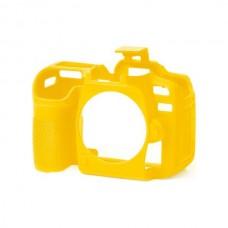 EasyCover Nikon D7500 için Silikon Kılıf + Ekran Koruyucu - Sarı