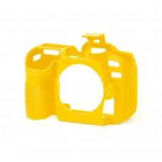 EasyCover Nikon D7100/D7200 için Silikon Kılıf + Ekran Koruyucu - Sarı