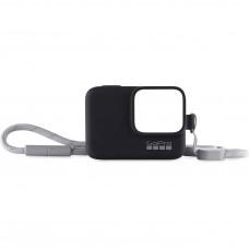 GoPro Silikon Kılıf + Bileklik/Boyunluk Sleeve + Lanyard Siyah