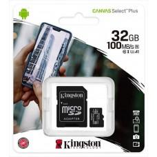 Kingston 32GB Canvas Select Plus 100Mb/s Class 10 U1 A1 SDCS2/32GB