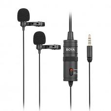 Boya BY-M1DM Çok Yönlü İkili Dual Yaka Mikrofonu