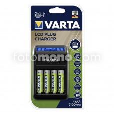 Varta LCD Plug Charger Şarj Cihazı + 4 x AA 2100 mAh