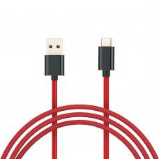 Xiaomi 100cm Type-C Örgülü Şarj Kablosu - Kırmızı